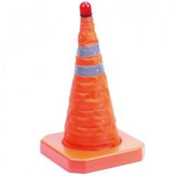 Oranje pion met lamp