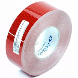 Reflecterend tape rood 50 meter