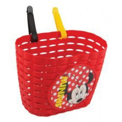 Kinder fietsmand Minnie Mouse rood