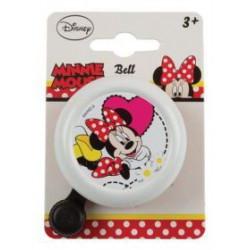 Fietsbel Minnie Mouse wit