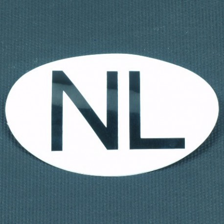 NL sticker wit