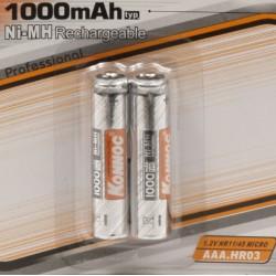 Batterijen oplaadbaar AAA 1000 mAH