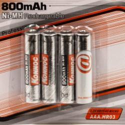 Batterijen oplaadbaar AAA 4 stuks 800 mAH