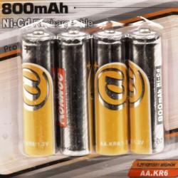 Batterijen oplaadbaar AA penlite 4 stuks 800 mAH