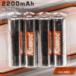 Batterijen oplaadbaar AA penlite 4 stuks 2200 mAH