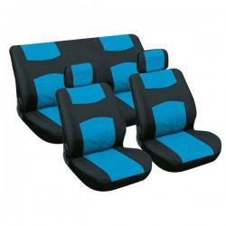 Stoelhoezen set blauw/zwart