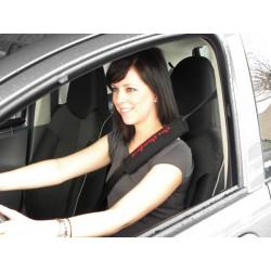 Gordelhoes set car comfort zwart/rood