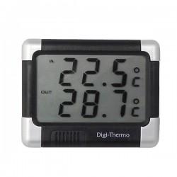 Thermometer zwart/zilver