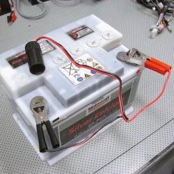 Sigarettenaansteker 12-24 volt met accuklemmen