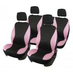 Stoelhoezen set roze/zwart