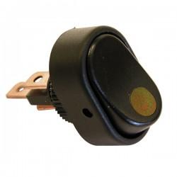 Schakelaar LED 12 volt 30 ampere geel