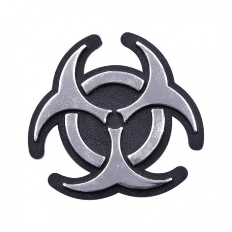 3d deco sticker Biohazard
