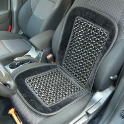 Kralenkussen auto Deluxe zwart