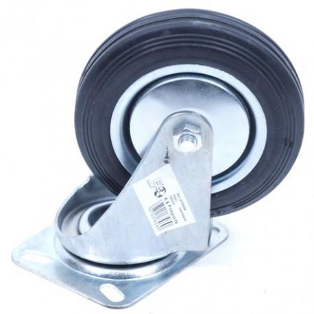 Zwenkwiel 160 mm rubber band
