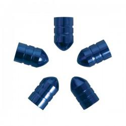 Ventieldoppen kogelvormig blauw 5 stuks
