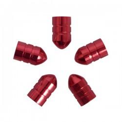 Ventieldoppen kogelvormig rood 5 stuks