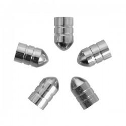 Ventieldoppen kogelvormig zilver 5 stuks