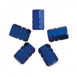 Ventieldoppen zuiger blauw 5 stuks