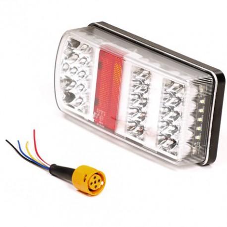 Achterlicht voor aanhanger 43 LED verlichting op VoorAllesMetWielen.nl