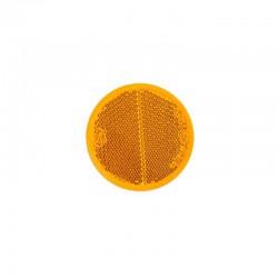 Reflector rond 60mm oranje zelfklevend
