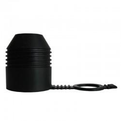 Trekhaakdop rubber zwart
