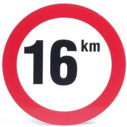 Bord snelheid 16km