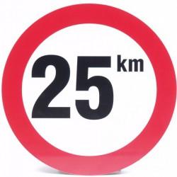 Bord snelheid 25km