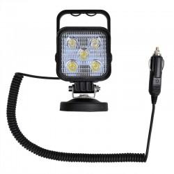 Werklamp 12 en 24 volt 5 LED magneet