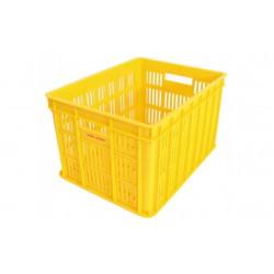 Fietskrat 26 liter geel