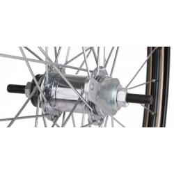 Fiets achterwiel 28x1 1/2 remnaaf staal zwart omafiets