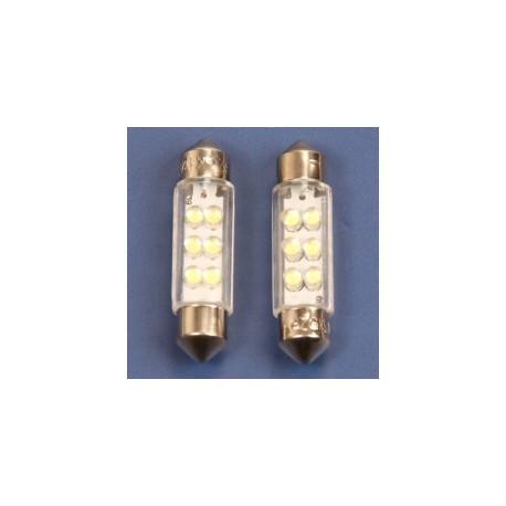 Autolamp 12 volt 6xLED 11x38 buislamp wit