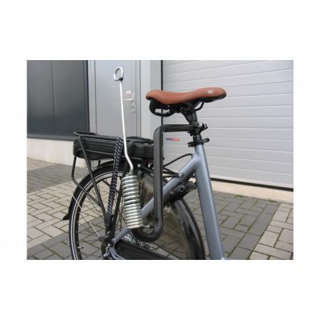 Hondenbeugel voor fiets met veer
