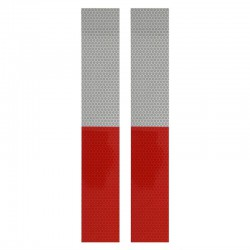 Reflecterend tape rood wit 5x30 cm 2 stuks