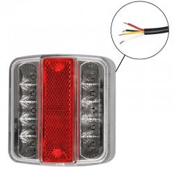 Achterlicht aanhanger 4 functies 14 LED 98x105cm