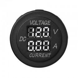 Digitale ampere en voltmeter inbouw 6-30 volt