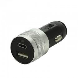 Stekker 12-24 volt USB en micro USB