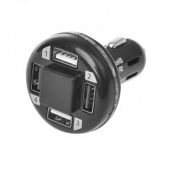 Stekker 12-24 volt USB 4 weg
