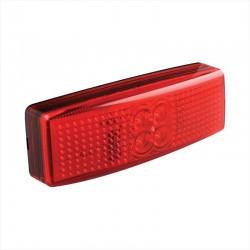 Zijmarkeringslamp LED rood 12 en 24 volt