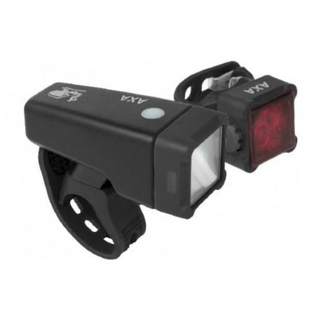 AXA NiteLine USB T4R oplaadbare fietsverlichting set