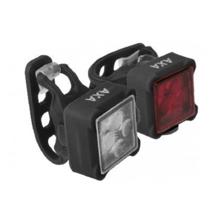 AXA NiteLine USB 44-R oplaadbare fietsverlichting set