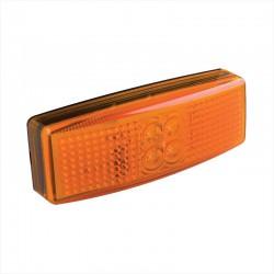 Zijmarkeringslamp LED oranje 12 en 24 volt positielamp