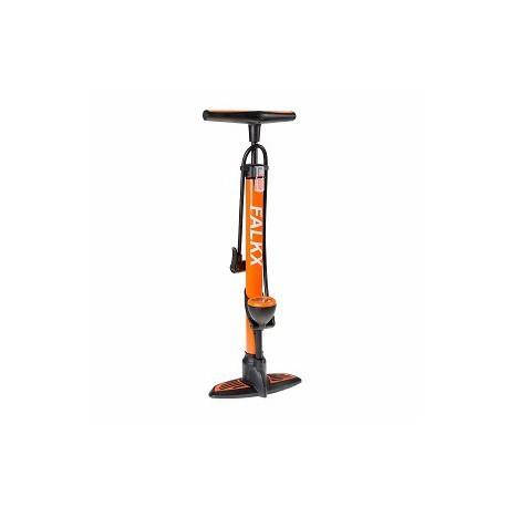 Falkx fietspomp met manometer en aluminium buis