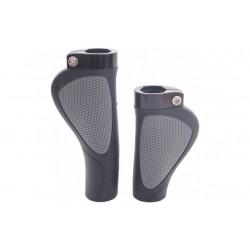 Handvatten fiets Ergocity 135 -95mm met lockring grijs / zwart