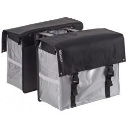 Fietstas 58 liter Bisonyl dubbel grijs zwart