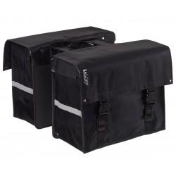 Fietstas 58 liter Bisonyl dubbel zwart