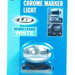 Markeerlicht LED wit 12/24 volt