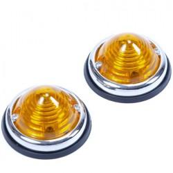 Positielampen rond oranje aanhanger